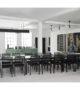 Skovby #24 extension dining table –  black