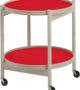 Hans Bølling  Tray Table Beech – Red/Black