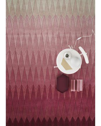Linie Design ACACIA rug Pink in situ