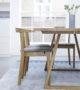 Skovby #105 table #52 chair detail