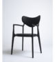 True North – Salon Chair in Beech Black and Leather