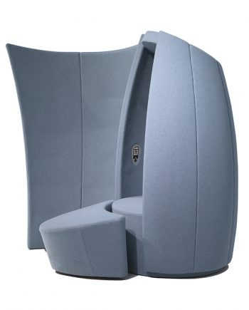 Cocoon pod, footstool and wall shield