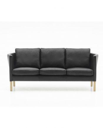 Nielaus AV 59 3-seater sofa black leather