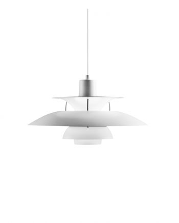 Poul Henningsen PH 5 pendant | Classic White Matt | Made by Louis Poulsen