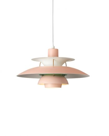 Poul Henningsen PH 5 pendant | Pale Rose/White Matt | Made by Louis Poulsen