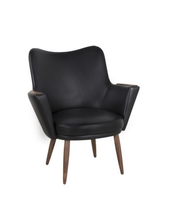 Mogens Hansen No.2 Armchair Black Leather