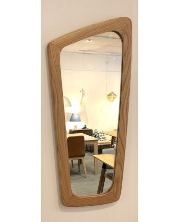 Midcentury style wall mirror in Oak by OKS