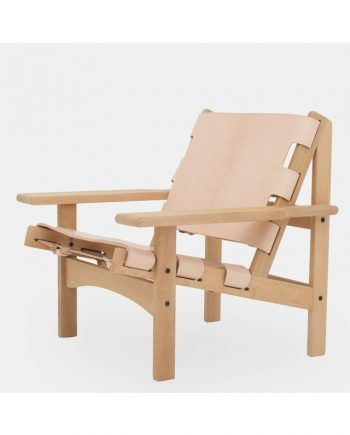 The Hunting Chair by Kurt Østervig in oak / saddle leather | Klassik Studio