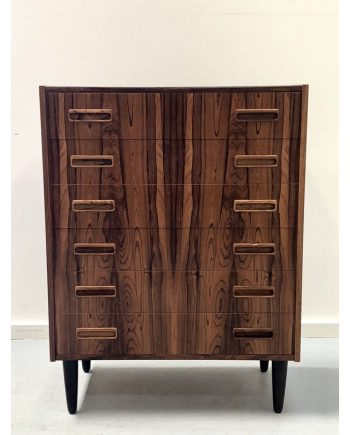 Danish Vintage Rosewood Tallboy Unit