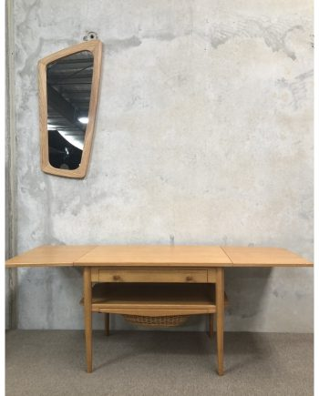 Danish Vintage Oak Sewing Table