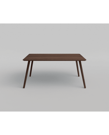 Eat Rectangular fixed top dining table with splayed legs in solid smoked oak timber, made by Via CPH