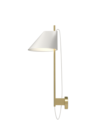 Louis Poulsen YUH brass and marble wall light