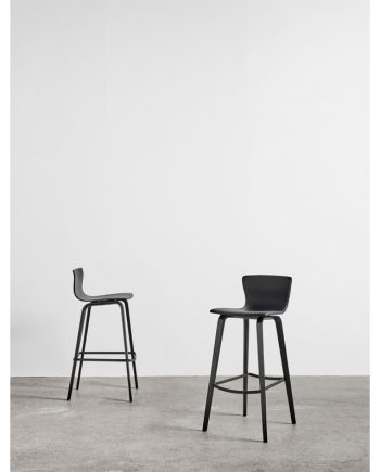 Butterfly Bar Chair by Magnus Olesen in black timber pair