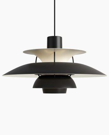 Poul Henningsen PH 5 pendant   Monochrome Black   Made by Louis Poulsen