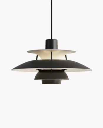 Poul Henningsen PH 5 Mini | Monochrome Black | Made by Louis Poulsen