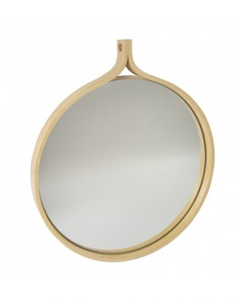 Swedese Comma Mirror Round in Ash Clear Lacquered