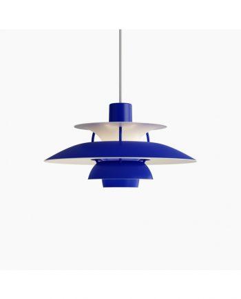 Poul Henningsen PH 5 Mini   Monochrome Blue   Made by Louis Poulsen