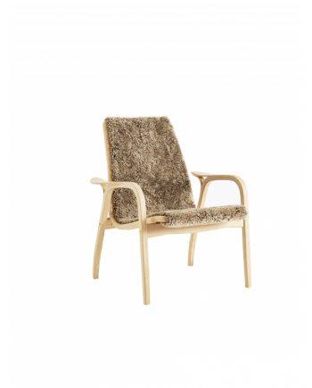 Swedese Lamino low back easychair in Oak with Sahara sheepskin