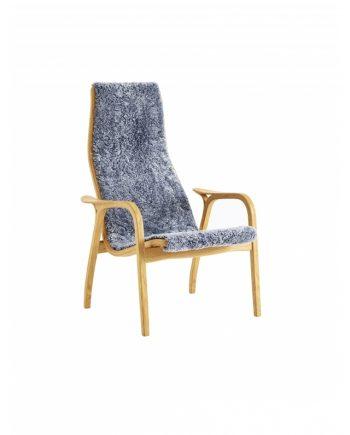Swedese Lamino high back easychair in Oak with Scandinavian grey sheepskin