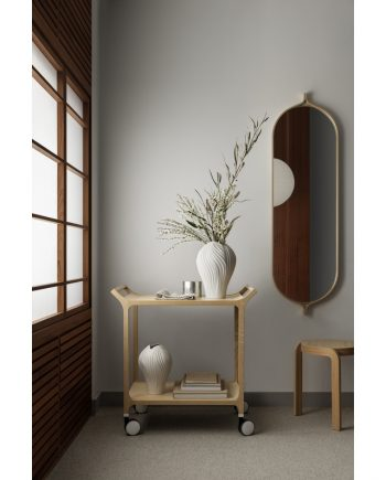 Swedese Comma Mirror Oval in Ash Clear Lacquered