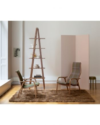 Swedese Lamino and Laminett chair in Oak with fabric upholstery