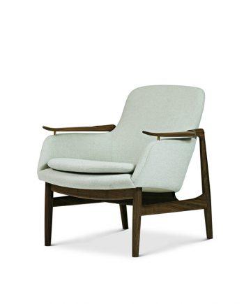 Finn Juhl | FJ 53 Chair | Walnut frame and fabric upholstery