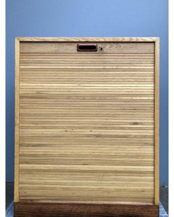 Danish Vintage Filing Cabinet | Oak | Tambour Door
