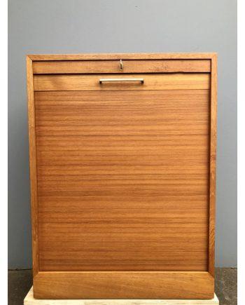 Danish Vintage Filing Cabinet | Teak | Tambour Door