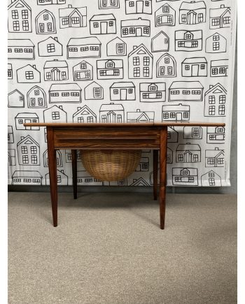 Vintage Sewing Table | Rosewood | Leaf Extended
