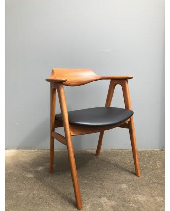 Vintage Danish Desk Chair in Teak | Designed by Erik Kirkegaard | Made by Høng Stolefabrik
