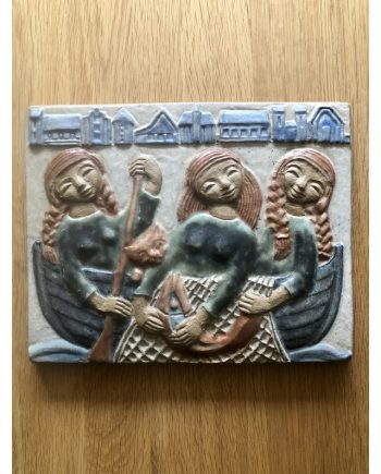 Vintage Danish Ceramic Wall Plaque | Søholm