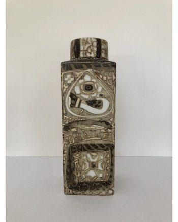Vintage Danish Ceramic Vase | Fajance design with birds and flowers | Royal Copenhagen